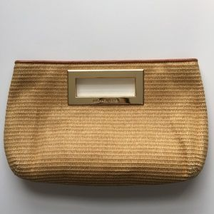 Michael Kors Berkley Soft Straw Clutch